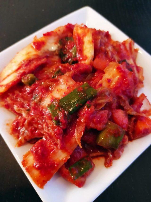 kimchi maison végétalien