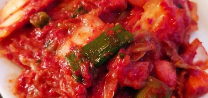 kimchi végétalien maison