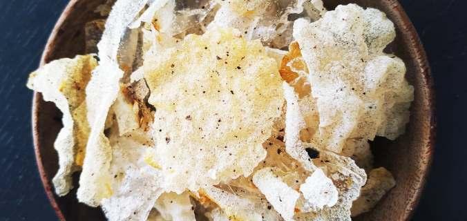 chips de riz soufflé au poivre de sechuan