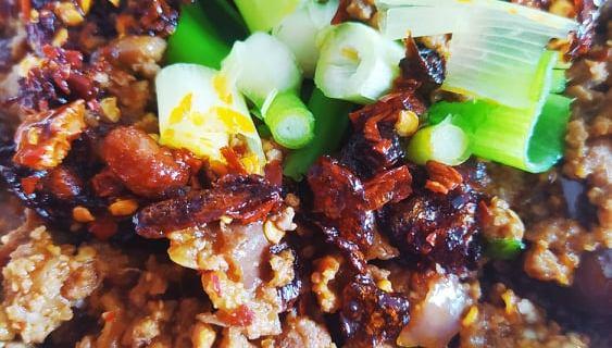 aubergines chinoises sichuan focus