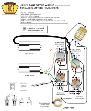 Jimmy Page wiring with Lace Alumitone pickups | My Les