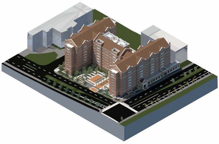 New residence hall and parking garage