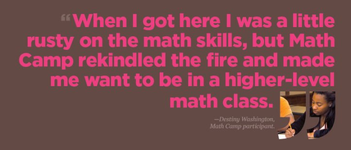 Math Camp Quote