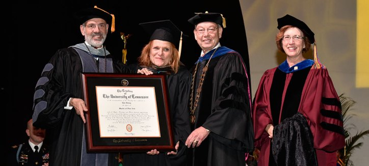 Dale Dickey with President diPietro, Chancellor Cheek, and Dean Lee