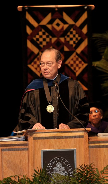 Chancellor Cheek speaking