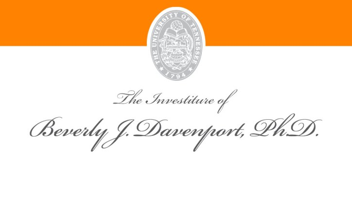 The Investiture of Beverly J. Davenport, Ph.D.