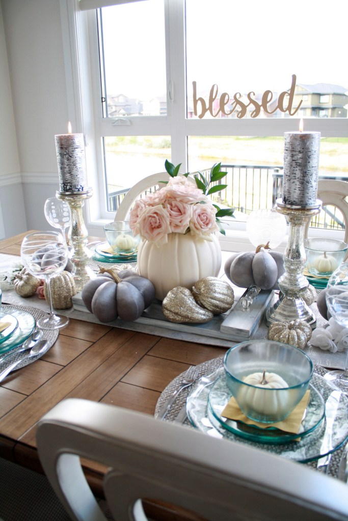 Blessed fall tablescape idea