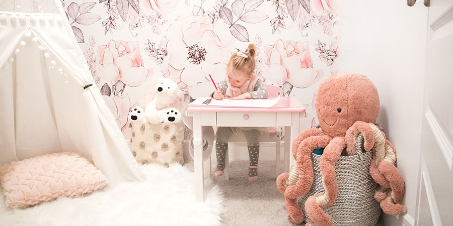 Using Our Glamorous Pink Playroom To Manage Toy Clutter