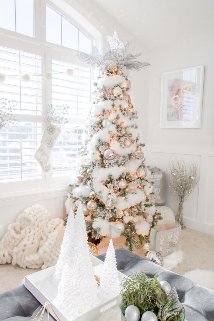 Our White Fluffy Christmas Tree Snowy Christmas Tree With White