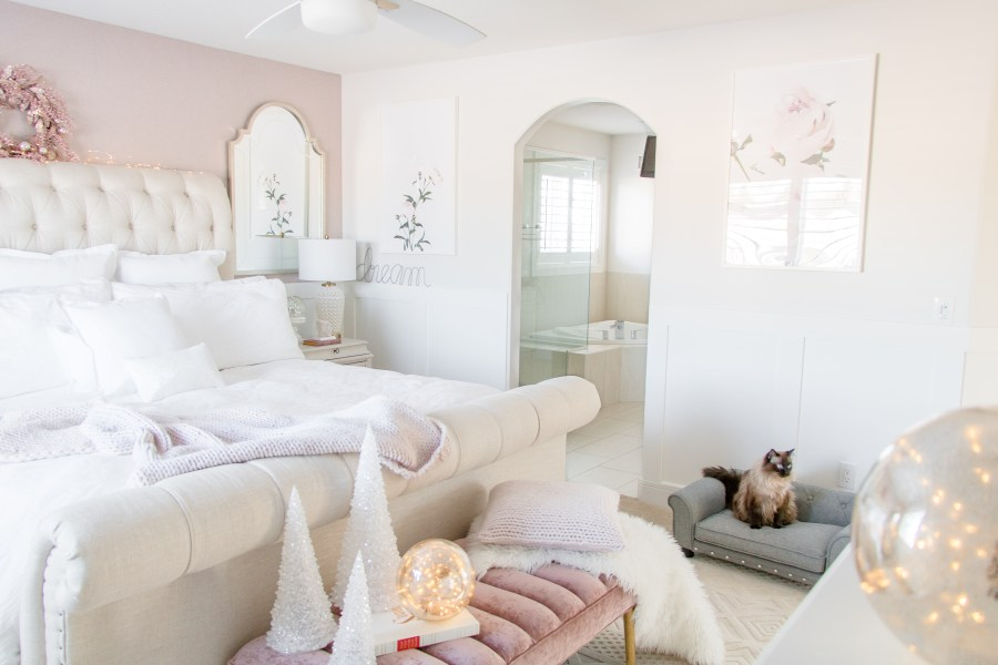 Luxurious Master Bedroom Refresh • Chandeliers and Champagne