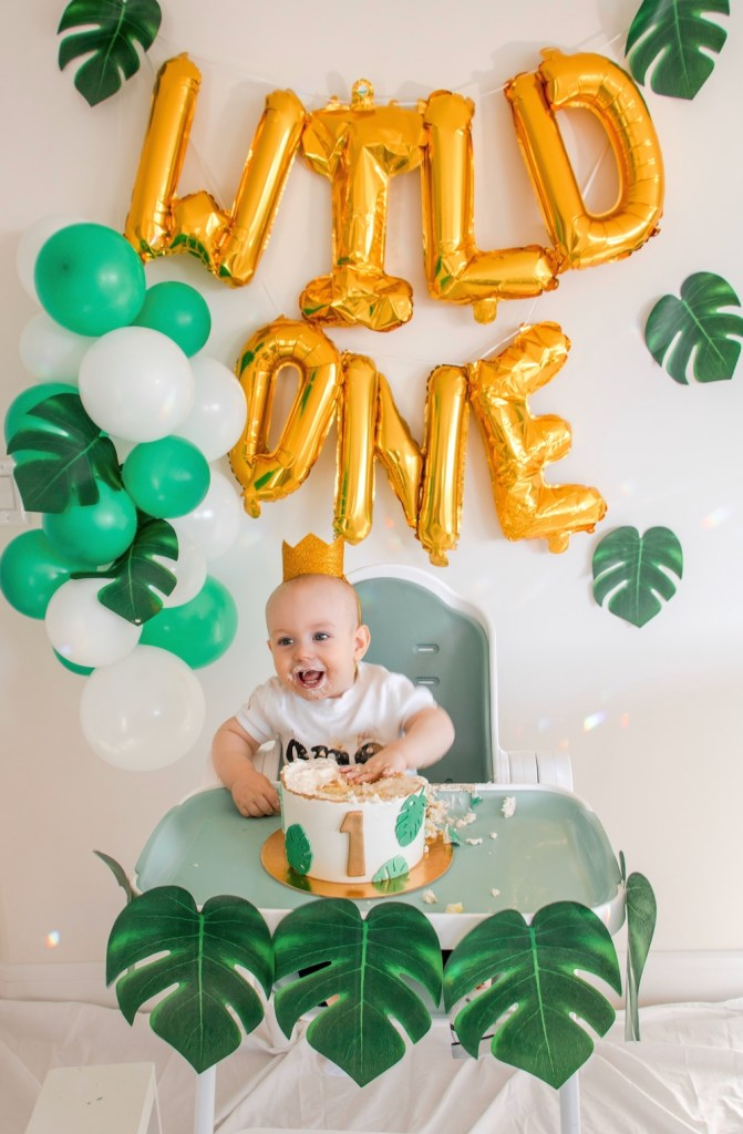 Awesome Emmetts Wild One Birthday Cake Smash Jungle Themed First Birthday Cards Printable Opercafe Filternl