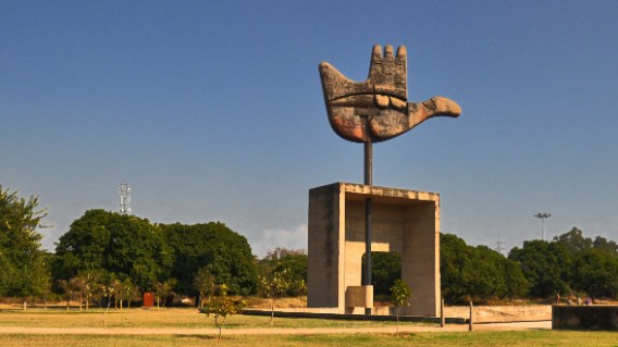 Image result for open hand monument of chandigarh
