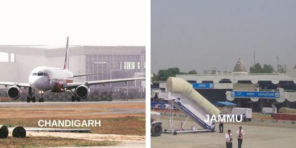CHANDIGARH-JAMMU-FLIGHT