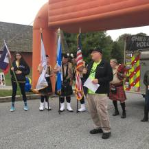 Dr. John Herzenbeg gives opening speech at the 12th annual Save-A-Limb Fund 1-Mile Walk and Summit Challenge