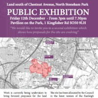Public Exhibition: Land South Of Chestnut Avenue, North Stoneham Park: Friday 12th December