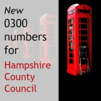 New 0300 Phone Numbers for Hampshire County Council