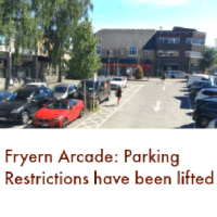 No More Parking Restrictions at Fryern Arcade