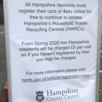 Registration required for Household Waste Recycling Centres