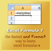Excel formulas book
