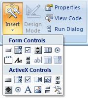 Insert Check box - Excel