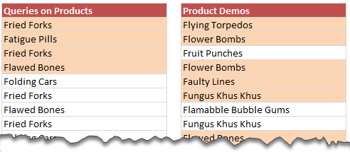 Comparing 2 lists in excel visually and highlighting matches