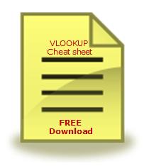 FREE VLOOKUP Formula Cheat-sheet - Download today