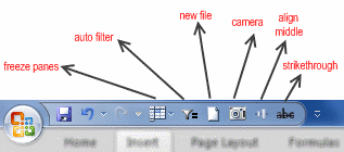 Excel 2007 - What is on your Quick Launch Bar?