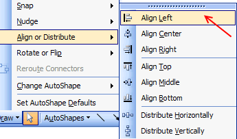 align-distribute-menu-excel