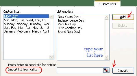 Hack auto-fills using custom lists - Excel Customization Hacks