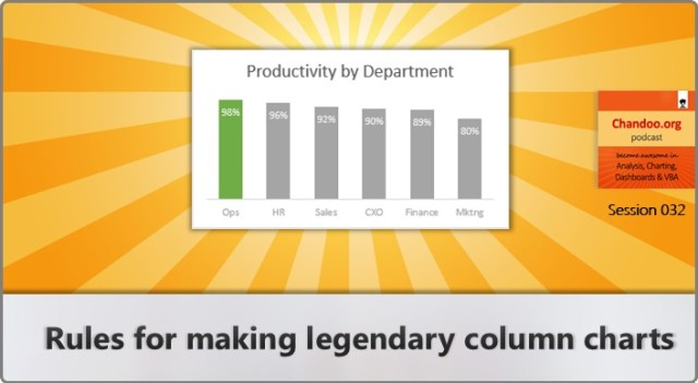 CP032: Rules for making legendary column charts - Chandoo.org podcast - Become awesome in Excel