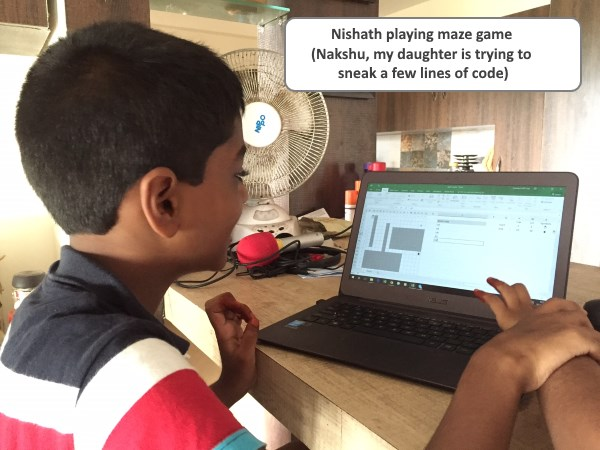 nishanth-playing-maze-game