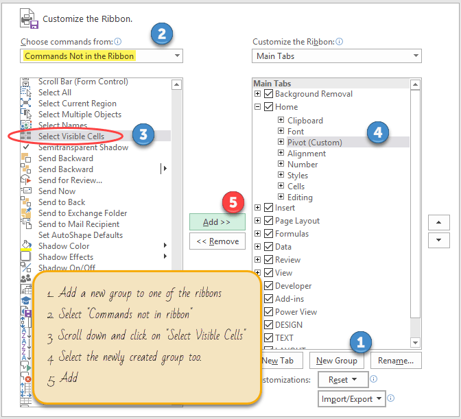 add-select-visible-cells-to-excel-ribbon