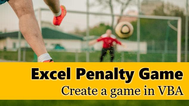 Excel soccer game - penalty shootout VBA game