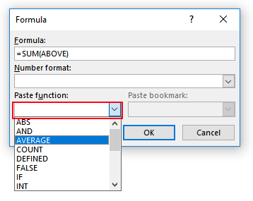 Maths in MS Word
