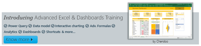 Introducing advanced Excel & dashboards training from Chandoo