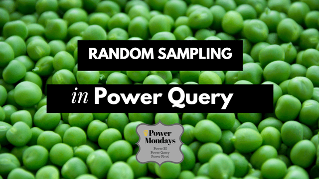 howto get random sample in power query