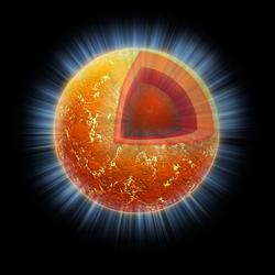 Illustration of Cassiopeia A Neutron Star
