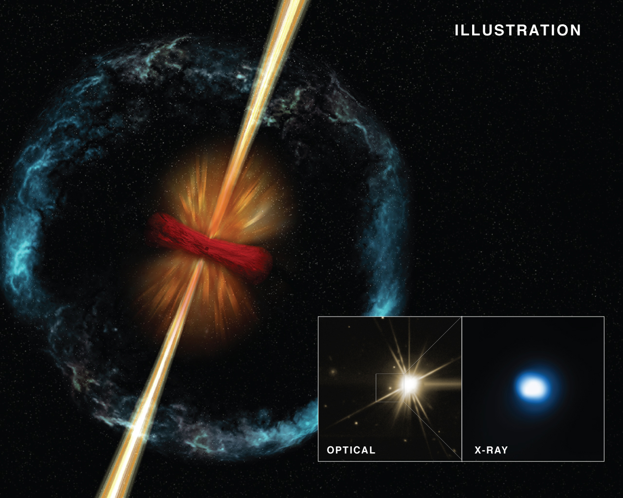 Astronomers have the strongest evidence to date that violent stellar mergers produce pencil-thin jets.