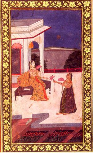 Ragmala Painting of Rag (Ragini) Yaman (Mushirabad 1765)
