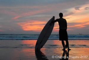 Surfing photography Bali at sunset