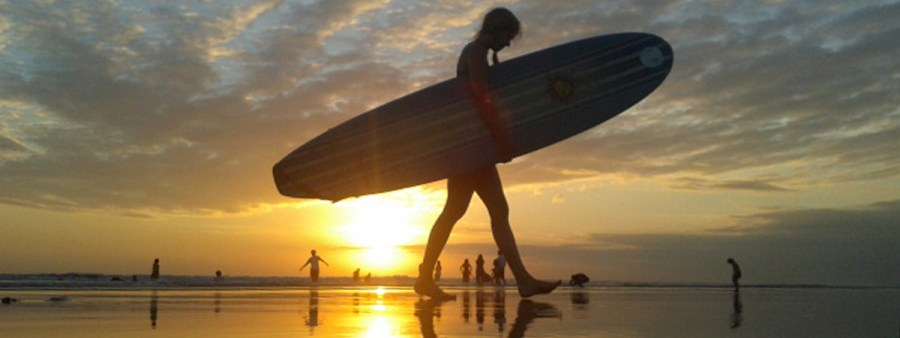 Surf and sunset photography