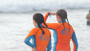Chandra's surfing rash guards