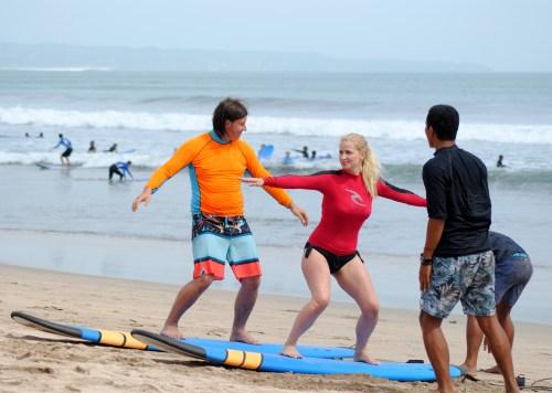 surf lessons legian beach