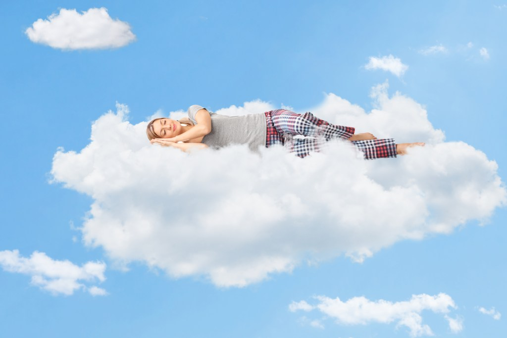 Sleeping on clouds with hypnosis