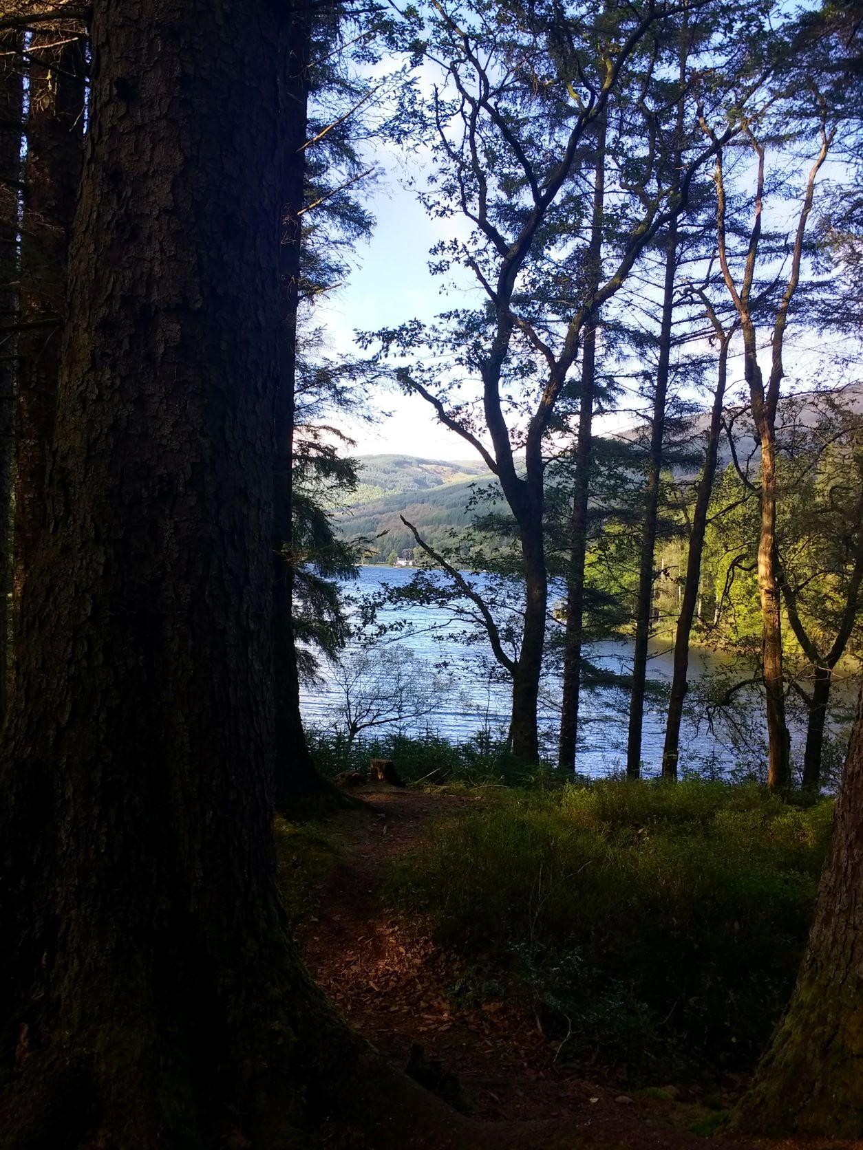 View across Loch Ard