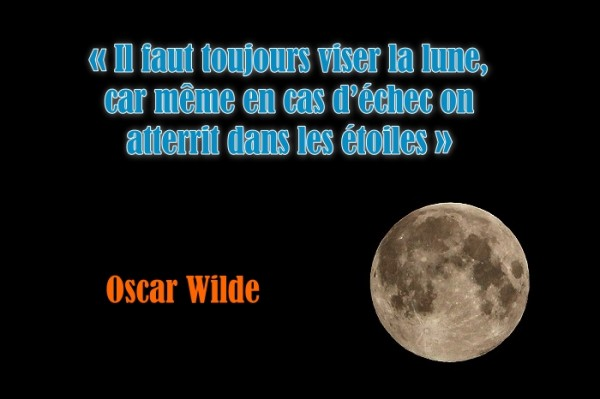 oscar wilde viser la lune citation - changeons