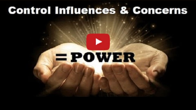 Control Influences & Concerns = Power