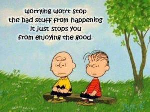 charlie brown on worry