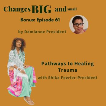 cover art for episode 61 with Shika on healing trauma