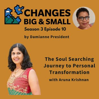 episode 72 on soul searching for personal transformation with Aruna Krishnan podcast cover